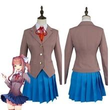 Doki Doki littérature Club Sayori Natsuki Yuri Monika Cosplay Costume filles uniforme scolaire