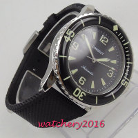 Corgeut Automatic Diver Watch Super Luminous MIYOTA Metal Mechanical Fabric Watches Black Dial Top Brand Best Cheap Sale