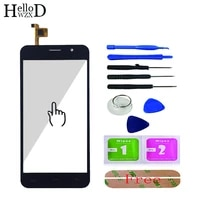 5 0 front touch screen touchsreen for homtom ht16 ht 16 touch screen glass digitizer panel lens sensor capative adhesive gift