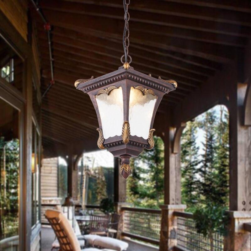 Chinese retro outdoor light waterproof balcony aisle lights courtyard outdoor waterproof LED chandelier enlarge