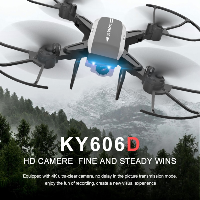 KY606D Drones with 4K HD Camera Professiona Selfie Aircraft 20 Mins Flight Foldable Quadcopter 1800mAh Battery VS SG106 E58 Toy enlarge