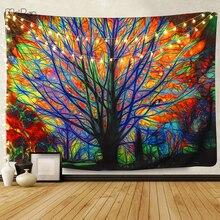 180x230 سنتيمتر عيد الميلاد الديكور الأشجار نسيج رسمة هندسية جدارية الجدار الشنق مخدر البوهيمي بساط هيبي لغرفة النوم