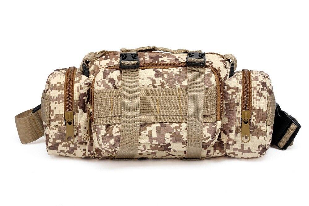 Paquete táctico de zorro del desierto, paquete de cintura para senderismo, mochila para el pecho, bolso de hombro de tela impermeable con recubrimiento, Kits de primeros auxilios para medicina