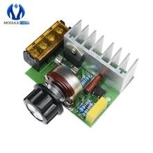 Régulateur de tension électrique SCR, 0-220V, 4000W AC, régulateur de vitesse de moteur, gradateurs de vitesse de gradation avec assurance de température