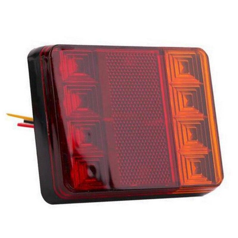 Para luces traseras de advertencia de camión 12 V DC RV, caravana, camión, montaje ligero de coche, remolque, 1 par de luces impermeables de coche, 8LED