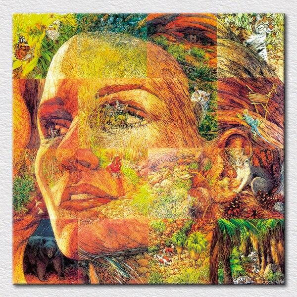 Lienzo impresiones belleza arte foto Color rompecabezas cuadro pintura colorido bosque rompecabezas fresco sala de estar decoración arte