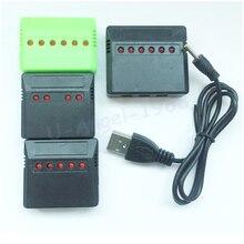 1pcs Mini 4 Port 5 port 6 port Lipo Batterie USB Ladegerät Für Syma X5C Hubsan H107 Wltoys RC UFO Quadcopter Hubschrauber