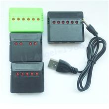 1 pièces Mini 4 ports 5 ports 6 ports Lipo batterie chargeur USB pour Syma X5C Hubsan H107 Wltoys RC UFO quadricoptère hélicoptère