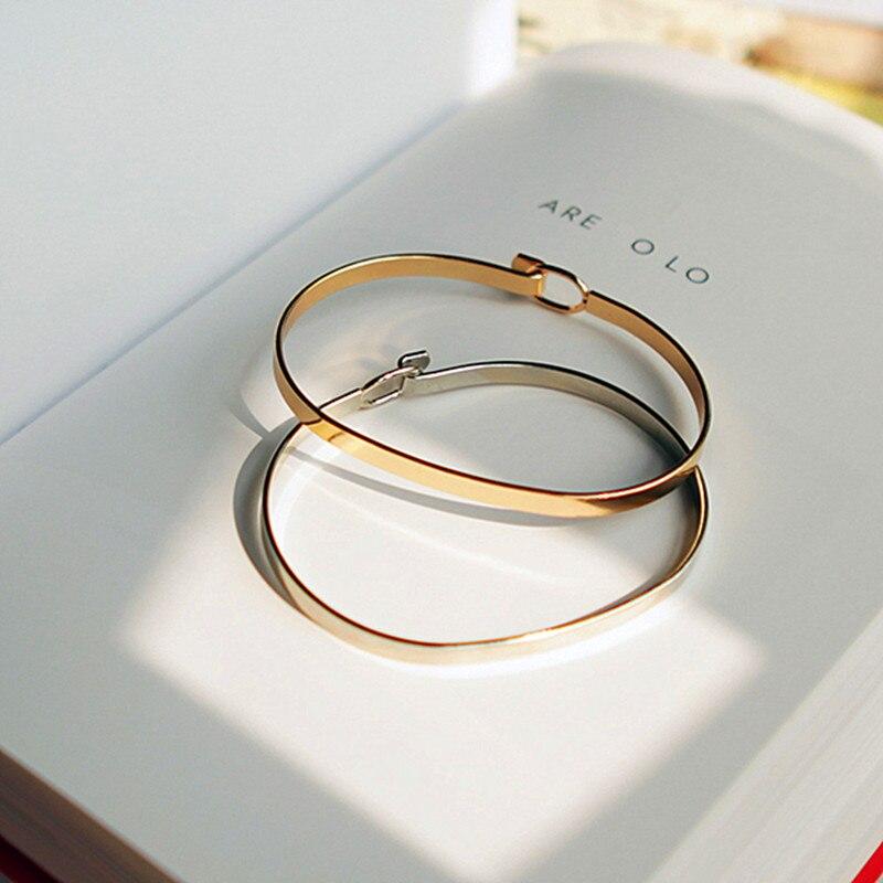 Minimalistische mode persönlichkeit vertrag feinen gold armband frauen mode schöne armbänder frei senden ein armband