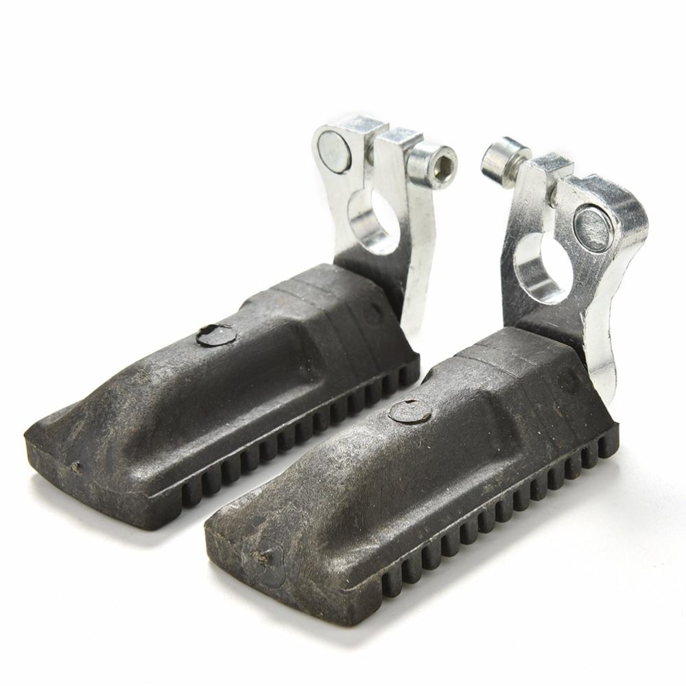 1 par preto apoio para os pés para 47cc 49cc mini moto bolso bicicleta mini moto pé pegs