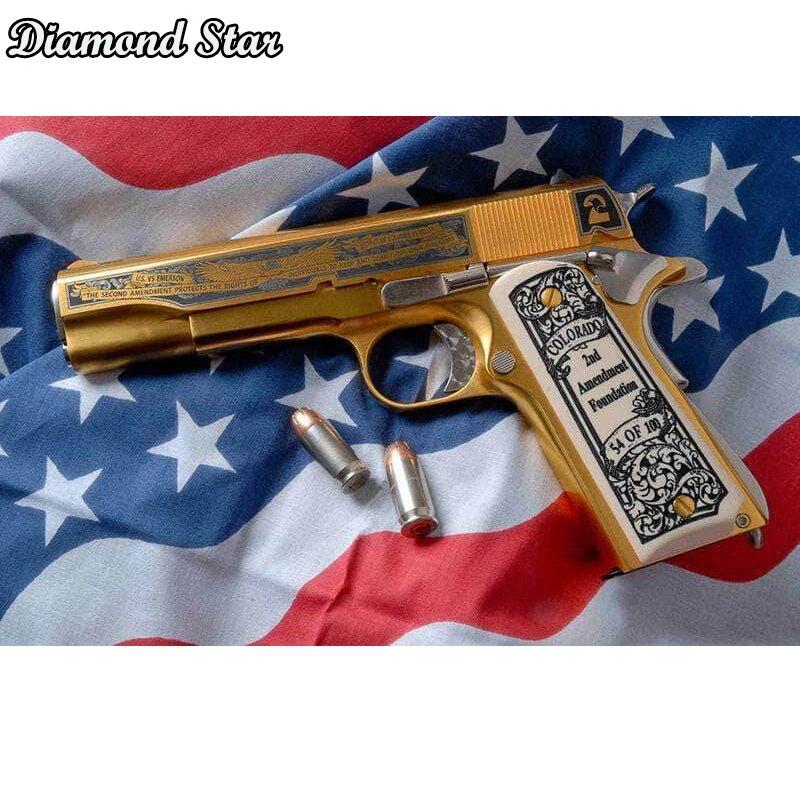 Taladro cuadrado completo 5D DIY diamante pintura pistola 3D bordado punto de cruz 5D decoración del hogar regalo
