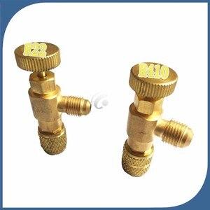 2pcs/lot new Air Refrigeration Charging Adapter refrigerant retention control valve Air conditioning charging valve R410 R22