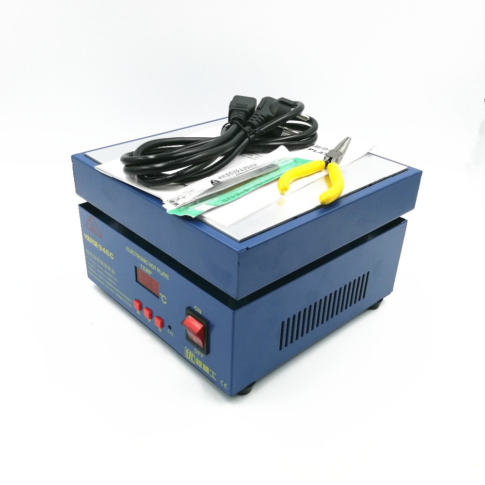 110/220V 600W 946C Electronic Hot Plate Preheat Preheating Station 200x200mm For BGA PCB SMD Heating Led Lamp Desoldering