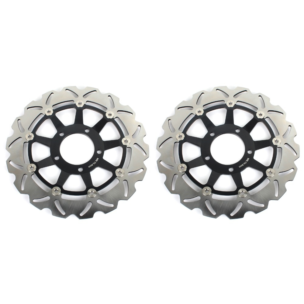Bikingboy discos de freio dianteiro discos rotores para triumph daytona 955i 2001-2006 speed triple 955 2002-2004 rocket iii 2300/classic