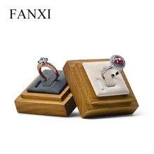 FANXI bijoux présentoir en bois massif anneau affichage bijoux présentoir bijoux exposition porte-anneau organisateur