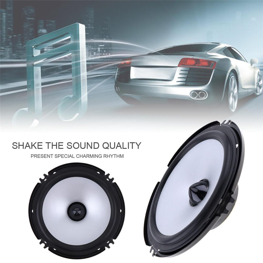 2pcs 6.5 Inch Car Speaker 60W 88dB Auto Car Coaxial HiFi Speakers Vehicle Audio Music Full Range Frequency Speaker Loudspeaker