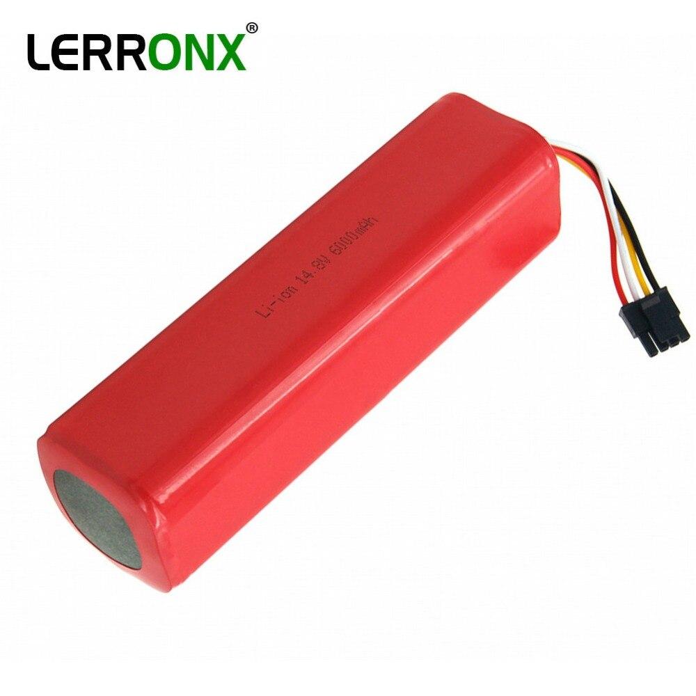 Rechargeable batteries Li ion 14.8V 6000mAh replacement vacuum cleaner accessories for xiaomi mi robot roborock S50 S51 battery