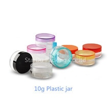 شحن مجاني 800 قطعة 10g مرطبان مستحضرات تجميل بلاستيكية واضحة ، وتستخدم كما تعزيز كريم يلمع تعبئة العينات بالجملة