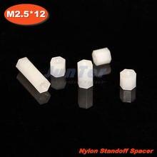 500pcs/lot Nylon Standoff Spacer M2.5 Female x M2.5 Female 12mm