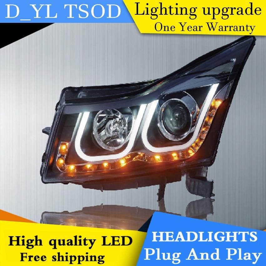 Car Styling For Chevrolet Cruze headlights 09-14 Cruze led headlight Head Lamp led drl projector headlight H7 hid Bi-Xenon Lens