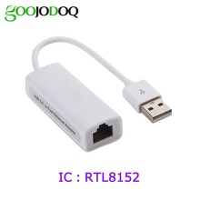 USB 2.0 à RJ45 carte réseau 10/100 Gigabit Ethernet Lan adaptateur pour Mac OS tablette PC Win 7 8 10 XP USB adaptateur réseau RTL8152