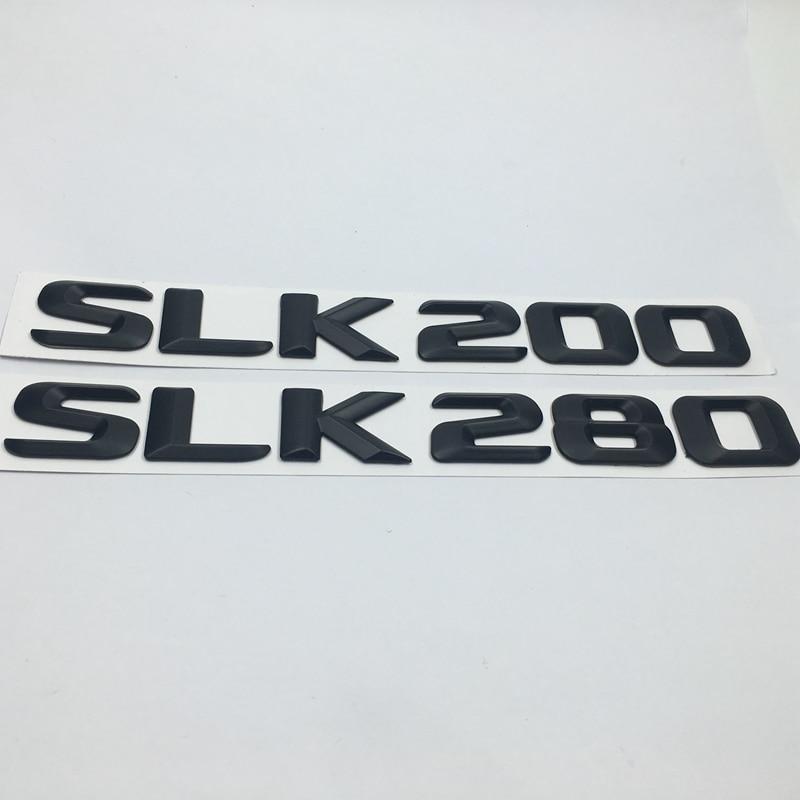 Baúl negro trasero emblema cromado cartas SLK 200 SLK 280 SLK Mercedes R170 R171 R172 SLK200 SLK280