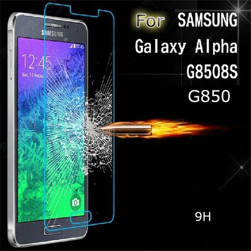 Templado Premium de cristal para Samsung Galaxy alfa G850 G850F G8508S Protector de pantalla película protectora endurecida guardia