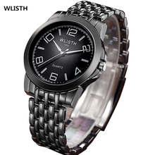 WLISTH Fashion Men Watch Quartz Watch Watchband Stainless Steel Wristwatch Simple Dial Business Man Water-proof Watches FD1352