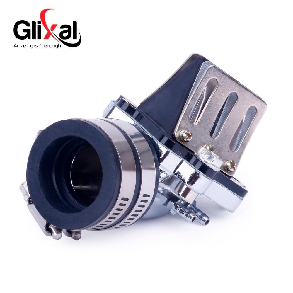 Glixal jog 49cc 50cc coletor de admissão de corrida de alto desempenho com válvula de reed para o scooter de motor de 2 tempos 1pe40qmb ciclomotor