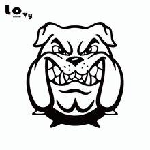 Miedo BullDog vinilo divertida Calcomanía para auto de perro de dibujos animados coches calcomanía de parachoques del coche ventana puerta, carrocería decoración CA0700