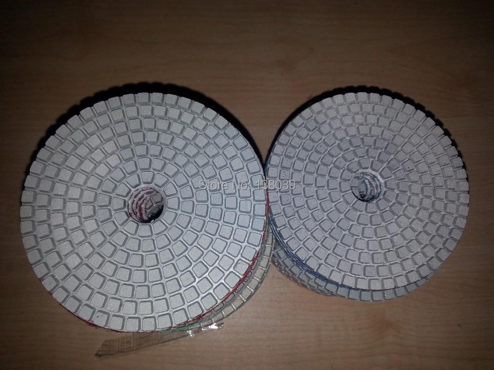 "7 pc 5 ""Almofadas de Polimento de Diamantes Molhado/Seco set para mármore Granito Concreto"