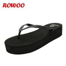 Ladies Platform Flip Flops Women Walking EVA LightWeight Beach Wedge Sandals High Heel Summer Female Slippers Outdoor Shoes