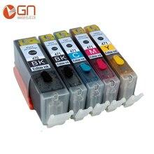GN 5pcs 470XL for Canon PGI 470xl CLI 471 Edible ink cartridges for CANON PIXMA MG 5740 8640 / TS 5040 6040 inkjet Printer