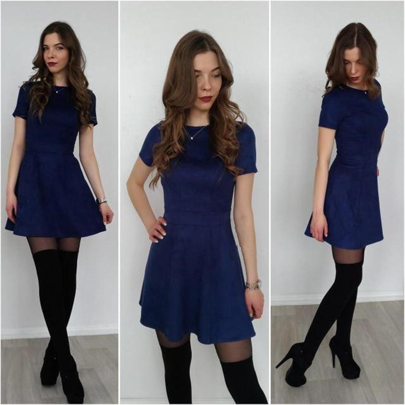 Oufisun Summer Women Dress 2019 Casual Short Sleeve Solid Ruffles Tunic Dress Fashion Elegant O-neck Party Mini Dress Plus Size