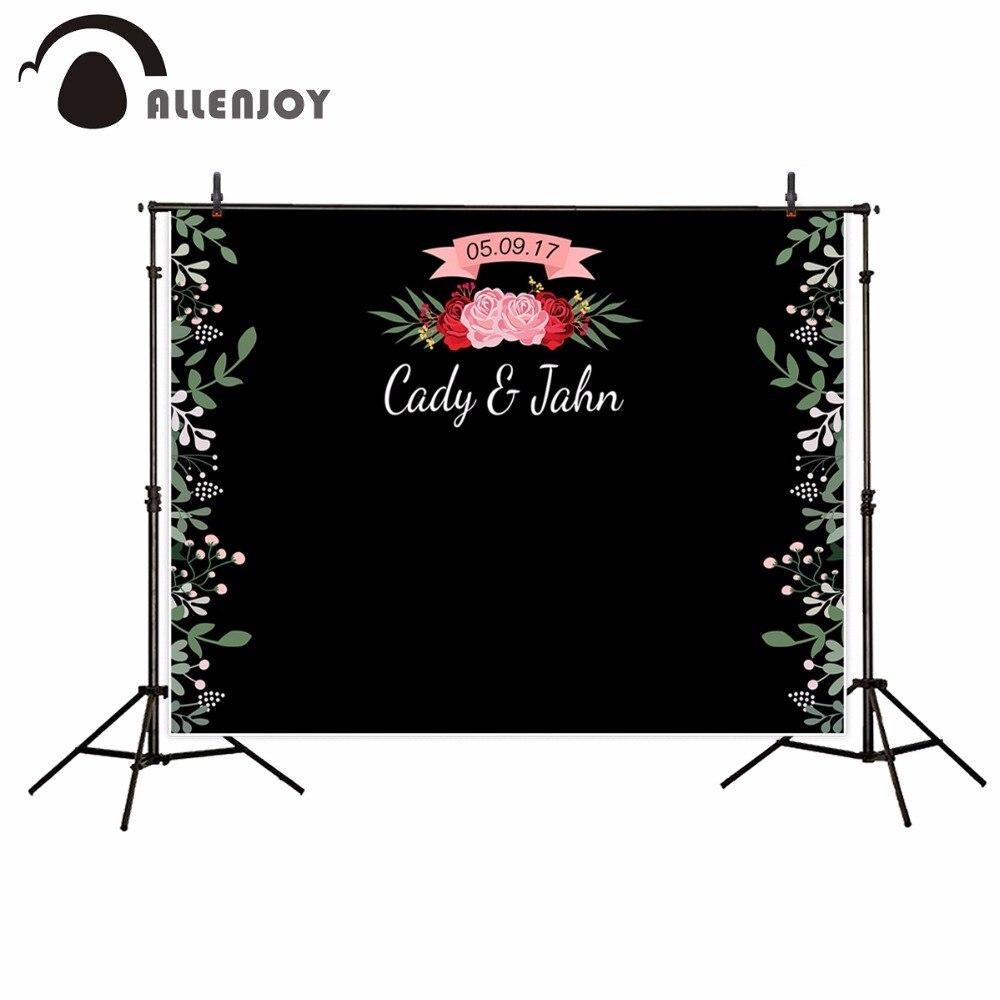 Allenjoy telones de fondo de fotografía para boda floral Flor de amor...