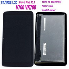 "STARDE LCD Voor LG G Tablet 10.1 V700 VK700 3g Wifi Versie LCD Display LD101WX2 Touch Screen Digitizer Vergadering frame 10.1"""