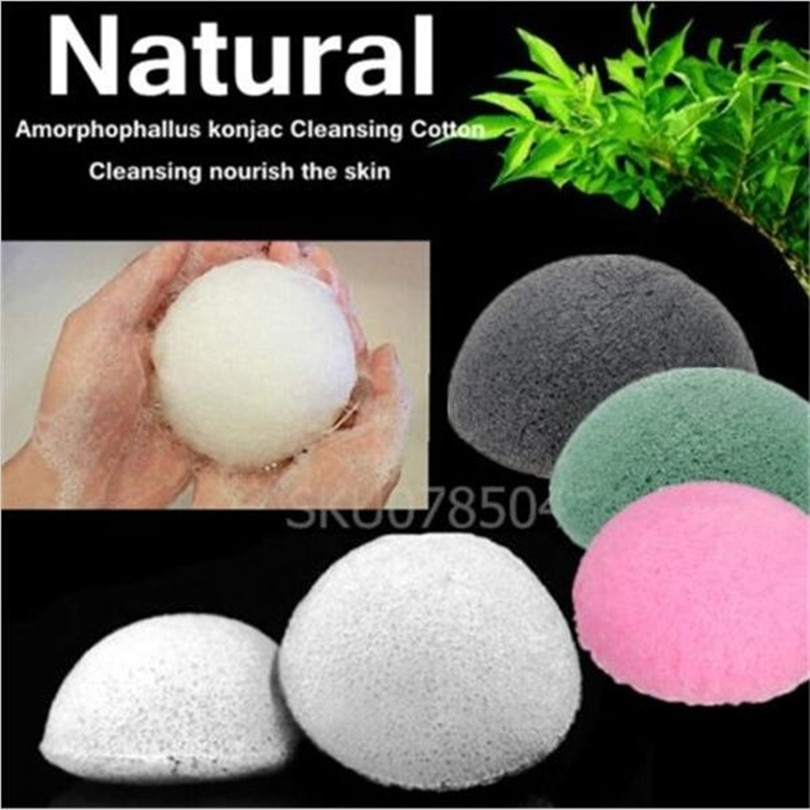 2pcs 4Colors Health Beauty Natural Konjac Konnyaku Facial Puff maquillaje Face Washing cusmestic Cleaning Sponge pad Makeup puff недорого