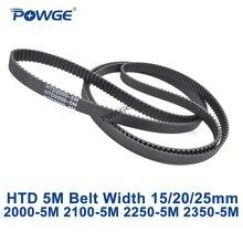 POWGE HTD 5M sincrona cinghia Dentata C = 2000/2100/2250/2350 larghezza 15/20 /25 millimetri Denti 400 420 450 470 HTD5M 2000-5M 2100-5M 2250-5M