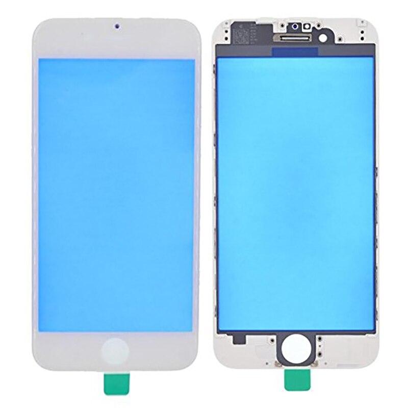 Para iPhone 6 6plus 6s 6sp 7 7plus reemplazo de pantalla frontal exterior cubierta de lente de cristal LCD con marco