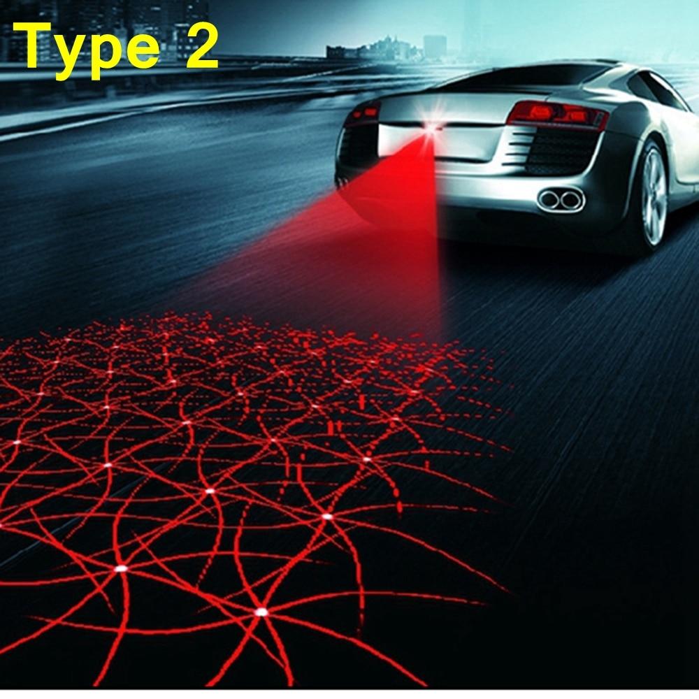 Car Laser Tail Warning Lights 12V LED Fog Lights Auto Brake Parking Reversing Lamp Car-Styling For Ford BMW Toyota Car Styling