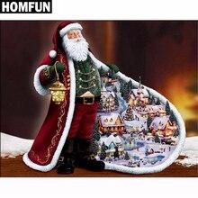 """HOMFUN Voll Platz/Runde Bohrer 5D DIY Diamant Malerei """"Santa Claus"""" 3D Stickerei Kreuz Stich 5D Strass wohnkultur"""