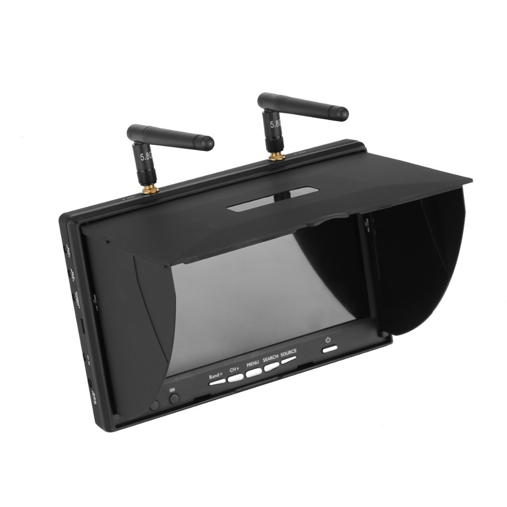 LCD5802D LCD5802S 5802  5.8G 40CH 7 Inch Raceband FPV Monitor 800x480 With DVR Build-in Battery Video Screen For FPV Multicopte enlarge