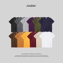 SODAWATER 2020 뉴 솔리드 컬러 T 셔츠 Mens 100% 코튼 티셔츠 여름 스케이트 보드 티즈 소년 스케이트 티셔츠 커플 티셔츠 91258S