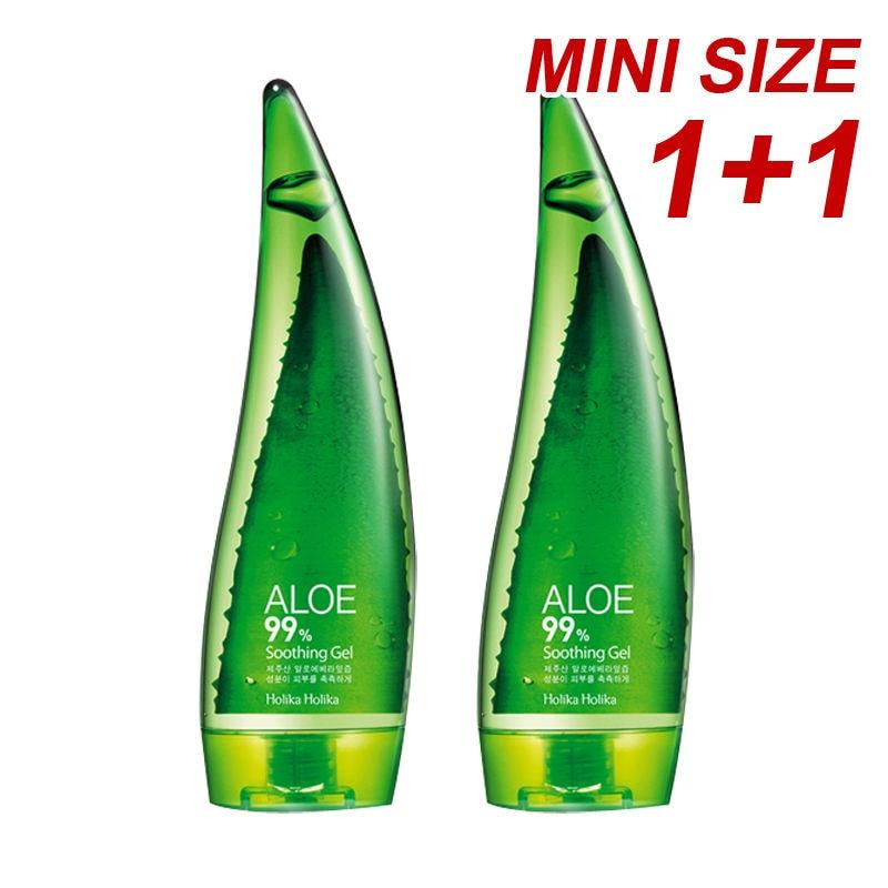 HOLIKA HOLIKA Aloe 99% Soothing Gel 55ml 2pcs Aloe Vera Gel Cream Remove Acne Whitening Oil Control Moisturizing Face Skin Care