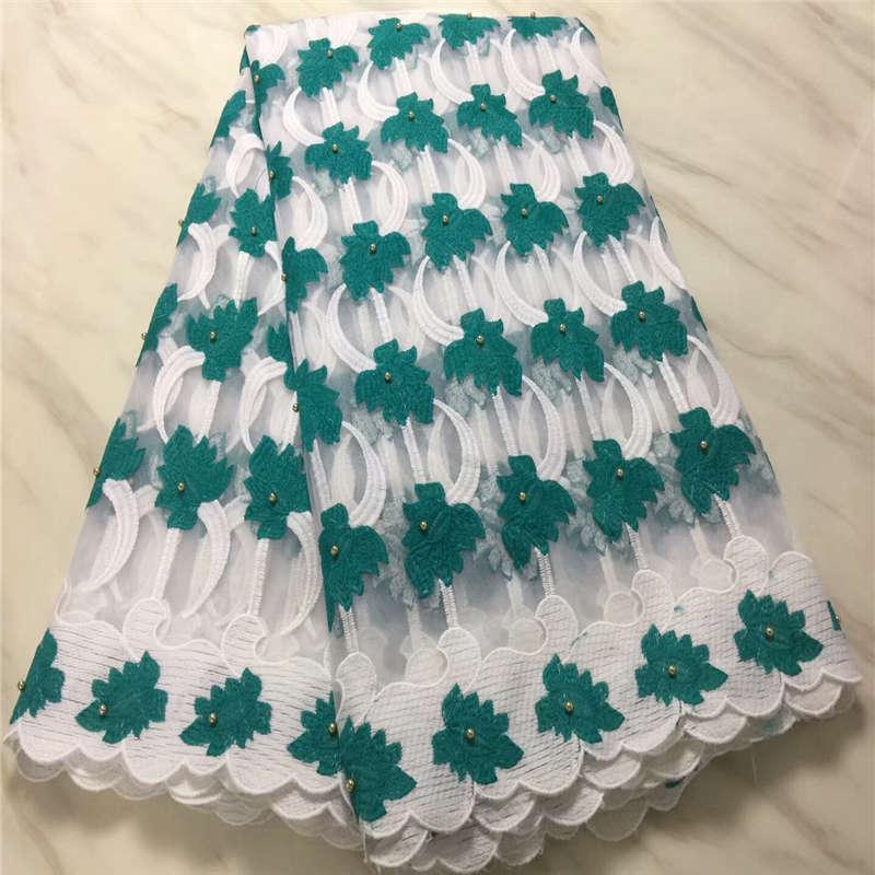 2019 Bela Lilás Malha Material Africano Nigeriano Nupcial Frisada Lace Tecido de Alta Qualidade Amarelo verde Tule Francês Lace ouro