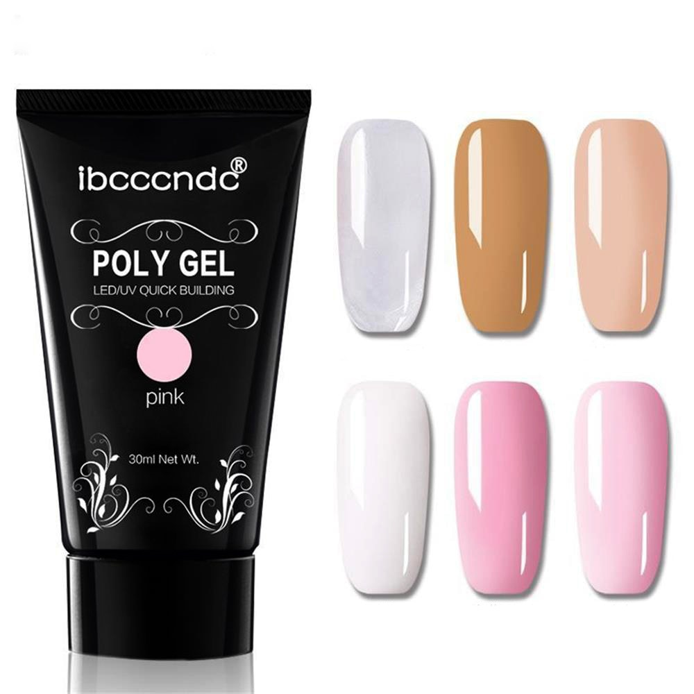 30g 3D de Ge de Gel del dedo cristal jalea de gel de uñas de Gel, camuflaje UV LED duro Gel acrílico Builder Gel