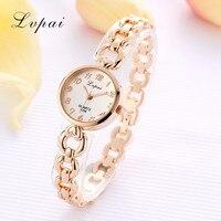 LVPAI 2019 Luxury Gold Sliver Fashion Ladies Women Unisex Stainless Steel Rhinestone Quartz Wrist Watch Relogios Dropshipping Q