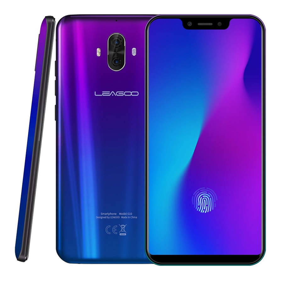 "Versión Global LEAGOO S10 P60 Octa Core 6 GB 128 GB 6,21 ""199 U primera teléfono móvil 20.0MP 4050 mAh 9 V/2A Android 8,1 4G Smartphone"