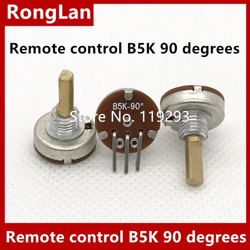 Freeshipping Spot B502 B5K miniature single inline model airplane remote control potentiometer 90 degrees  15MM-10PCS/LOT