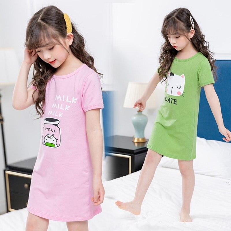 Детские пижамы для девочек ночная рубашка принцессы из хлопка домашняя одежда